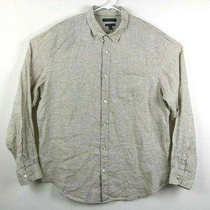 Banana Republic Linen Button Down Camden Fit Shirt